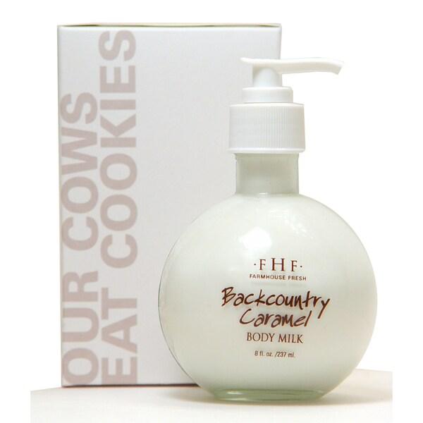 FarmHouse Fresh Backcountry Caramel Body Milk 8-ounce Pump Top
