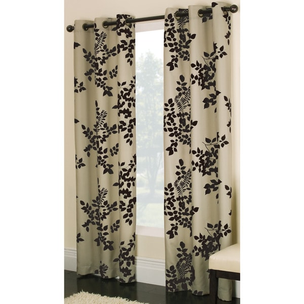 Miller Curtains Simsbury Chocolate 95-inch Grommet Panel