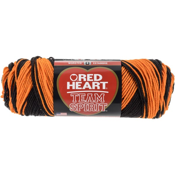 Red Heart Team Spirit YarnOrange & Black