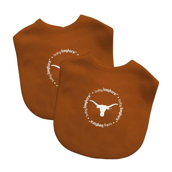 Baby Fanatic NCAA Texas Longhorns 2-pack Baby Bib Set 16362529