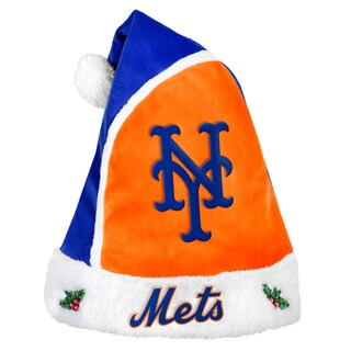 New York Mets 2015 MLB Polyester Santa Hat