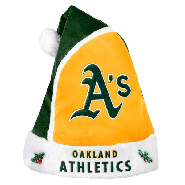 Oakland Athletics 2015 MLB Polyester Santa Hat