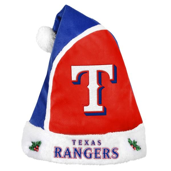 Texas Rangers 2015 MLB Polyester Santa Hat