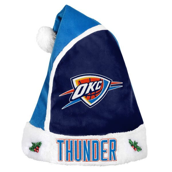 Oklahoma City Thunder 2015 NBA Polyester Santa Hat 16362559