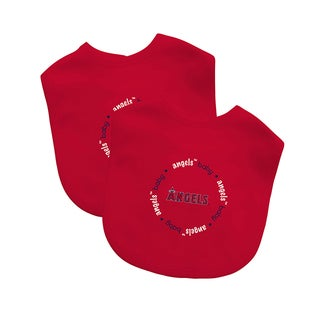 Baby Fanatic MLB Los Angeles Angels 2-pack Baby Bib Set