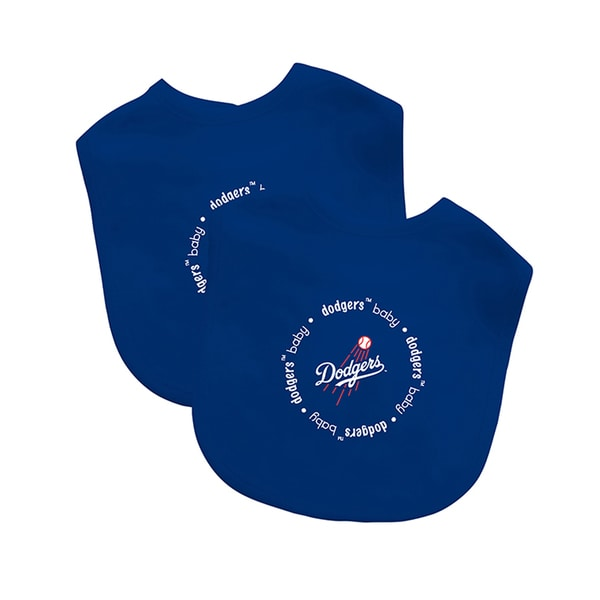 Baby Fanatic MLB Los Angeles Dodger 2-pack Baby Bib Set