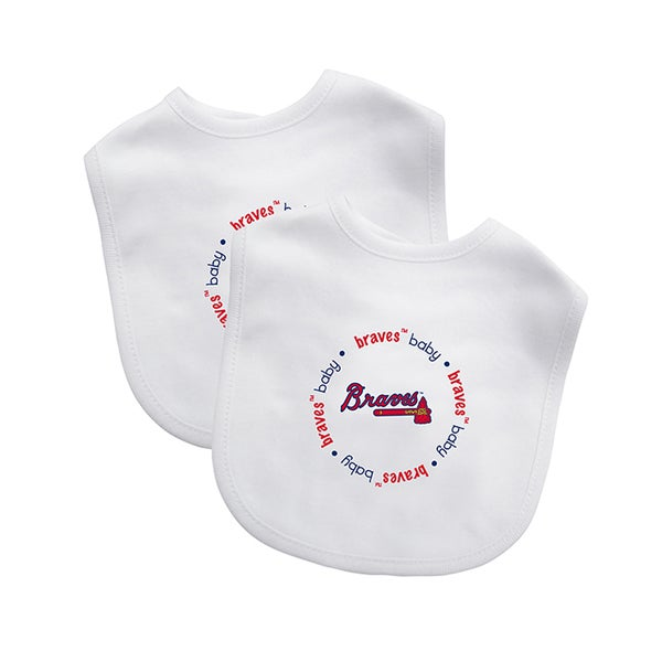 Baby Fanatic MLB Atlanta Braves 2-pack Baby Bib Set
