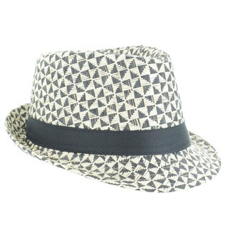 Faddism Men's Patterned Fashion Fedora Hat