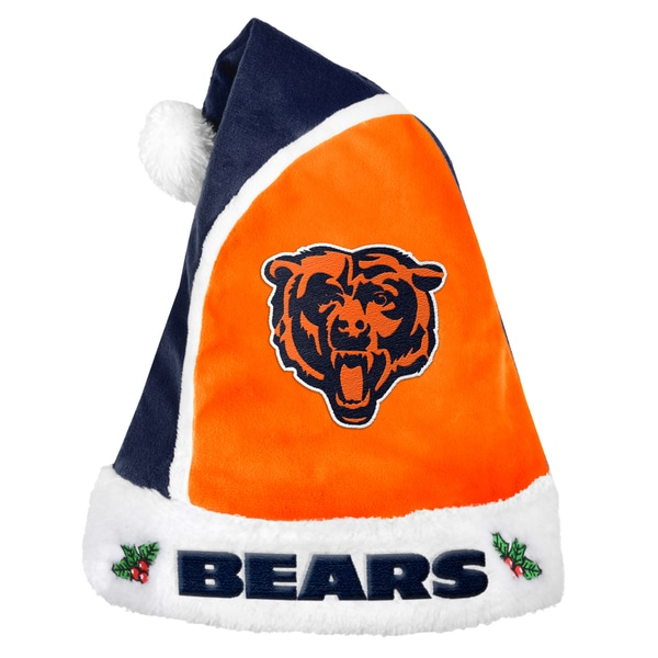 Forever Collectibles Chicago Bears 2015 NFL Polyester Santa Hat 16362620