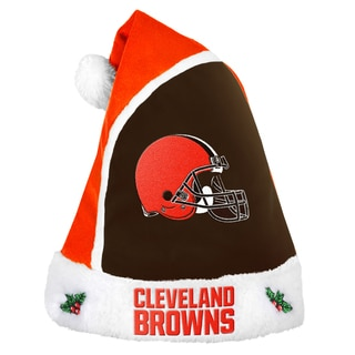 Forever Collectibles Cleveland Browns 2015 NFL Polyester Santa Hat