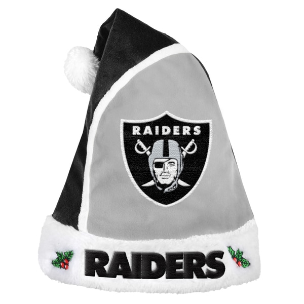 Oakland Raiders 2015 NFL Polyester Santa Hat