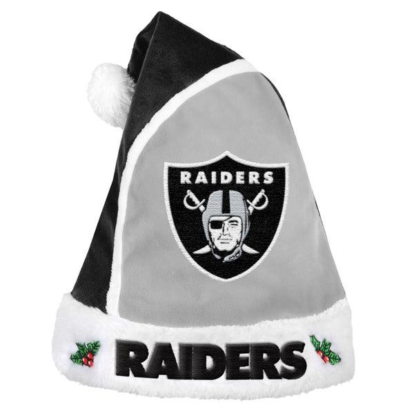 Oakland Raiders 2015 NFL Polyester Santa Hat