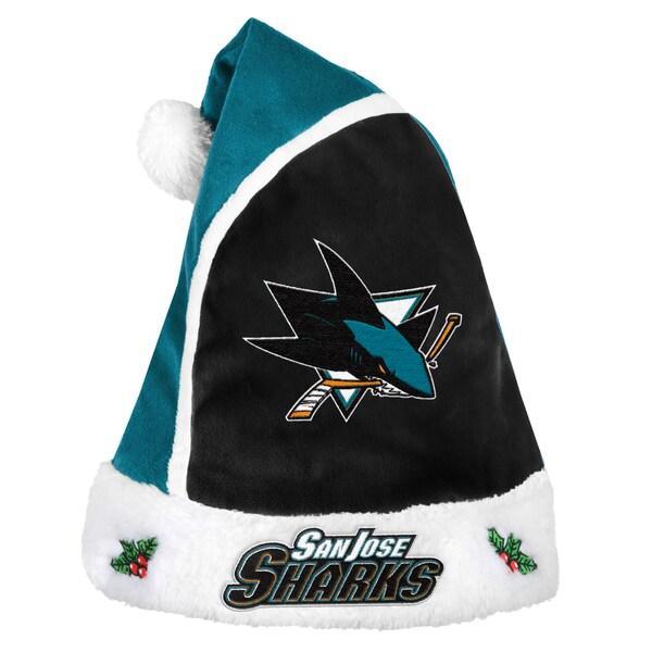 San Jose Sharks 2015 NHL Polyester Santa Hat