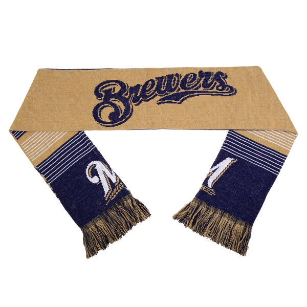 Forever Collectibles MLB Milwaukee Brewers Split Logo Reversible Scarf 16362793