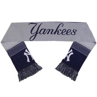 Forever Collectibles MLB New York Yankees Split Logo Reversible Scarf