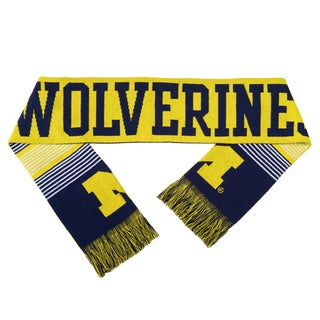 Michigan Wolverines Split Logo Reversible Scarf