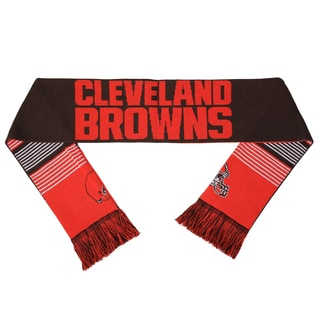 Forever Collectibles NFL Cleveland Browns Split Logo Reversible Scarf