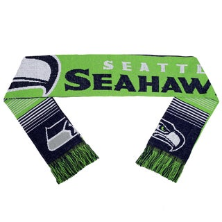 Forever Collectibles NFL Seattle Seahawks Split Logo Reversible Scarf