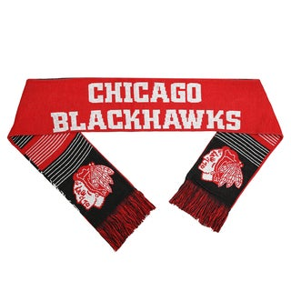 Forever Collectibles NHL Chicago Blackhawks Split Logo Reversible Scarf