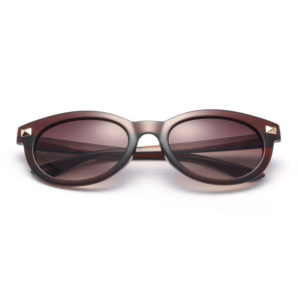 Round Sunglasses with Brown Lens 53MM