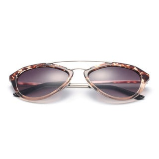 Round, Half Metal Arms Sunglasses 58MM