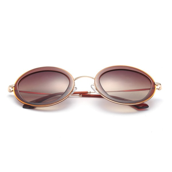 Clear Round Sunglasses with Yellow Lens 50MM