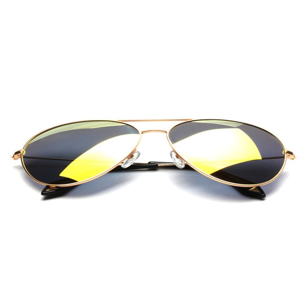 Aviator Sunglasses with Blue Tinted Lens 60MM