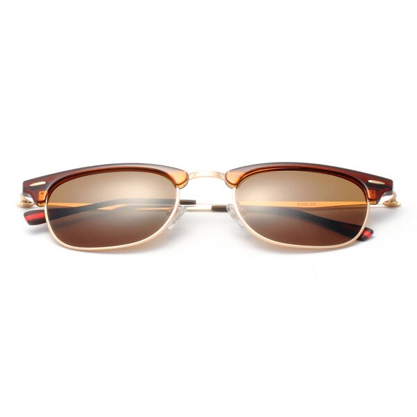 Half Frame Horn Rimmed, Square Sunglasses 50 MM