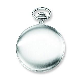 Versil Charles Hubert Stainless Off White Dial Super Slim Pocket Watch