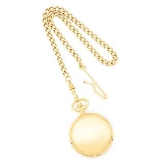 Versil Charles Hubert 14k Gold Finish White Dial Pocket Watch