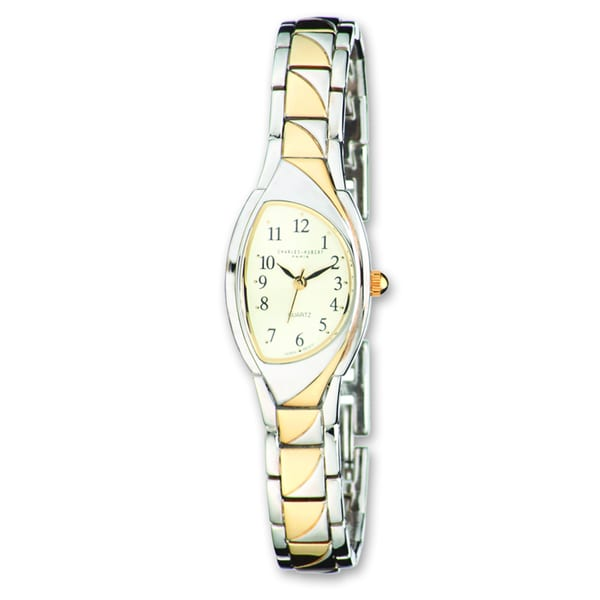 Ladies Charles Hubert Gold-finish 2-tone Champ Dial 20mm Watch