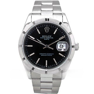 Pre-owned Men's Rolex Stainless Steel Date Watch