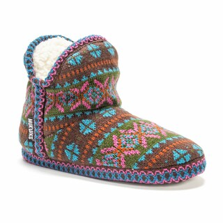 Muk Luks Women's Amira Pattern Bootie Slipper