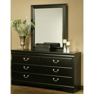 Sandberg Furniture Regency Black Finish 6-drawer Dresser and Mirror Set