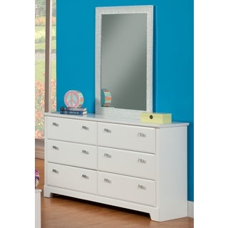 Sandberg Furniture Hailey White Laminate Dresser and Mirror