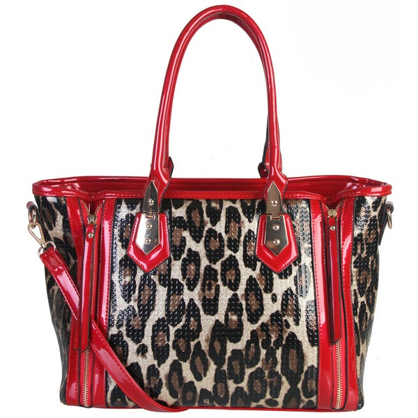 Rimen & Co. Leopard Animal Print Tote Shopper Purse Handbag