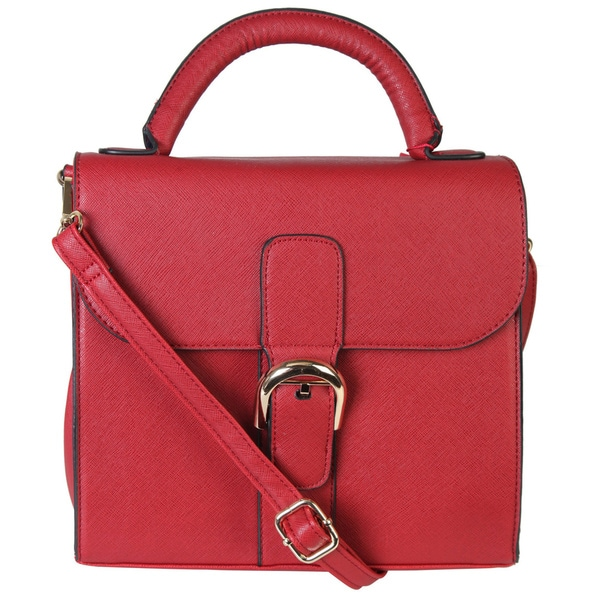 Rimen & Co. Leather Satchel Messenger Cross Body Shoulder Purse Handbag