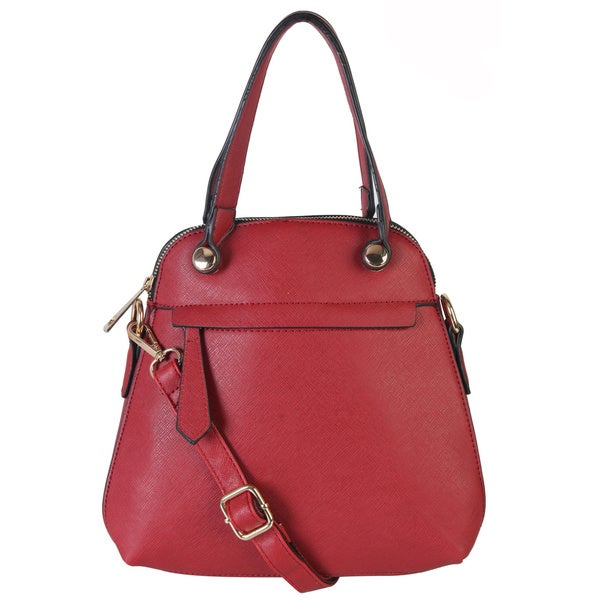 Rimen & Co. PU Leather Satchel Messenger CrossBody Purse Handbag