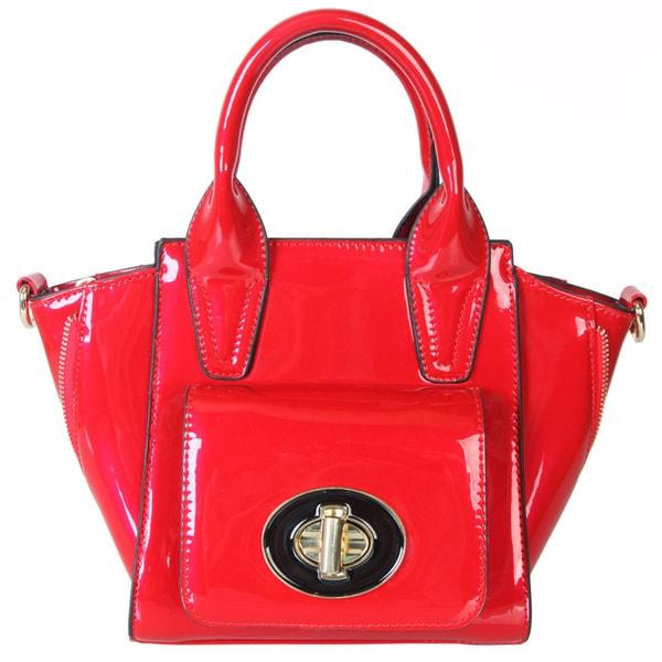 Rimen & Co. Patent Leather Satchel Small Cross Body Shoulder Purse Handbag