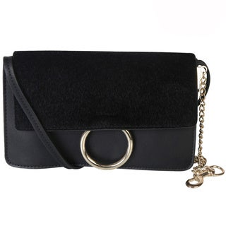 Rimen & Co. Leather Front Flap Clutch