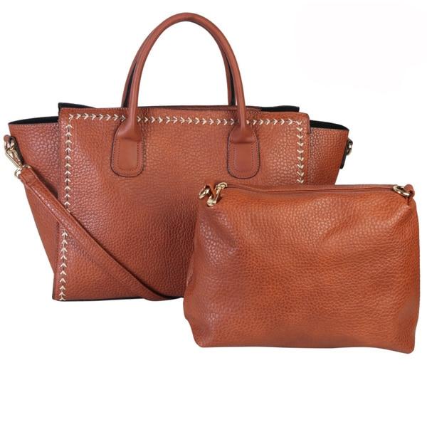 Diophy Leather Indie Large Tote Satchel Bag
