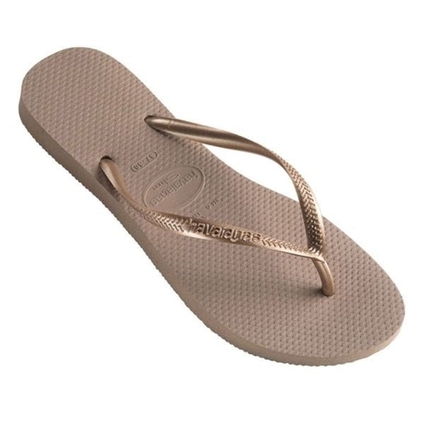Havaianas Women's Rose Gold Rubber Regular Flip Flops
