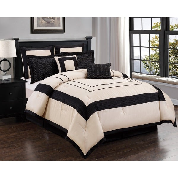 Stratton 8-piece Embroidered Comforter Set