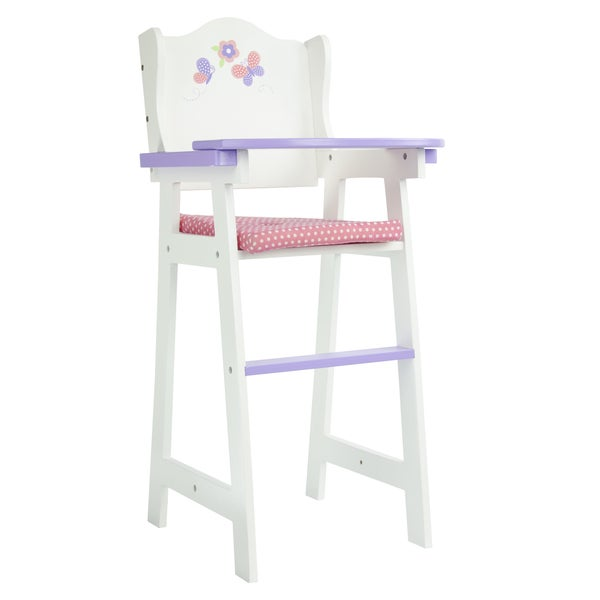 Teamson Kids Little Princess 18-inch Doll Baby High Chair