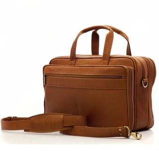 Muiska Vaquetta Leather Expandable Compartment 17-inch Laptop Briefcase