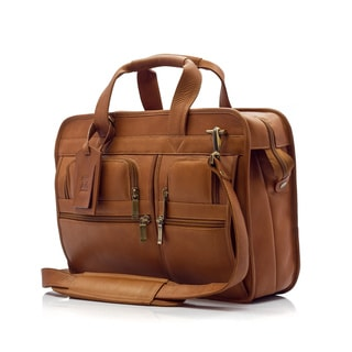Muiska Vaquetta Leather Oslo Professional 17-inch Laptop Briefcase