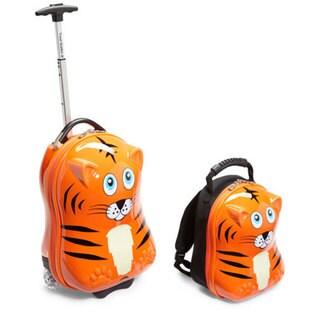 Travel Buddies Tinko Tiger 2-piece Kids' Hardside Carry-on Luggage Set