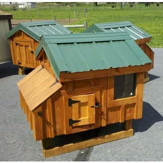 Tucker's Coops A-frame Handcrafted Pre-assembled Solid Wood Chicken Coop