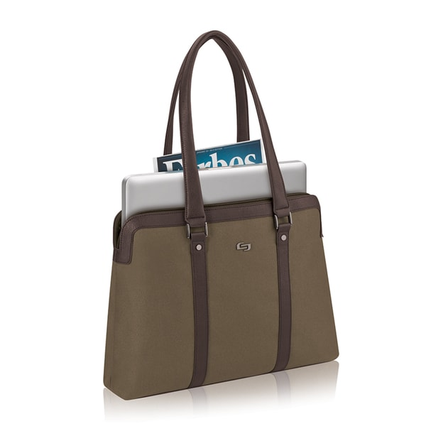 Solo Executive Khaki 15-inch Ultrabook Laptop and Tablet Tote
