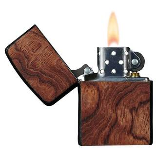 Zippo Lighter with Handcrafted Bubinga Finish by Brizard & Co.